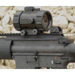Red Dot 1 x 50mm Tactical Sight w/ Integral Mount ,  rubber edge guards & Flip Open Covers