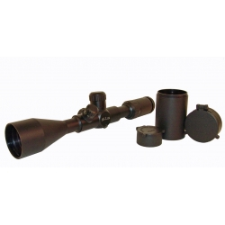 4 - 16 x 50mm Top - Angle Focus With No Math Mil Dot Reticle and an Extended Sunshade 1""